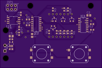Image: The front panel of the custom PCB.